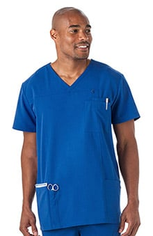 Classic Fit Collection by Jockey Men's V-Neck Solid Scrub Top