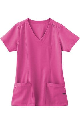 Clearance Classic Fit Collection by Jockey® Scrubs Women's Mock Wrap Scrub Top