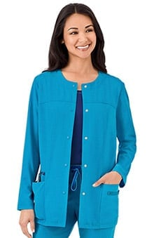 Modern Fit Collection by Jockey Women's Snap Front Scrub Jacket