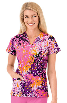 stethoscopes: Classic Fit Collection by Jockey Women's V-Neck Print Top
