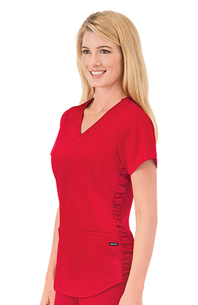 Clearance Classic Fit Collection by Jockey® Women's V-Neck Solid Scrub Top With Ruching