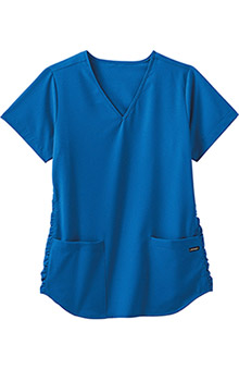 Clearance Classic Fit Collection by Jockey® Scrubs Women's V-Neck Solid Scrub Top With Ruching