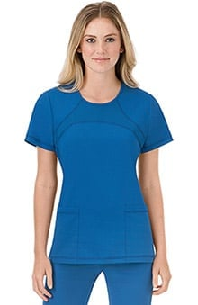 Modern Fit Collection by Jockey® Scrubs Women's Mesh Round Neck Scrub Top