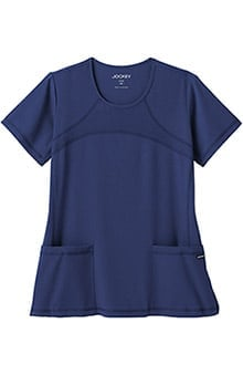 Clearance Modern Fit Collection by Jockey® Scrubs Women's Mesh Round Neck Scrub Top