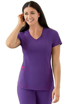 Modern Fit Collection by Jockey® Women's V-Neck Contrast Princess Scrub Top