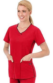 Modern Fit Collection by Jockey Women's Sporty V-Neck Scrub Top