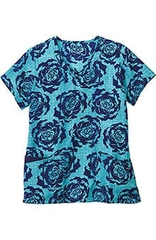 Classic Fit Collection By Jockey® Scrubs Women's V-Neck Floral Print Scrub Top