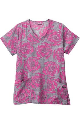 Clearance Classic Fit Collection by Jockey® Women's V-Neck Floral Print Scrub Top