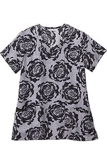 Classic Fit Collection By Jockey Women's V-Neck Floral Print Scrub Top