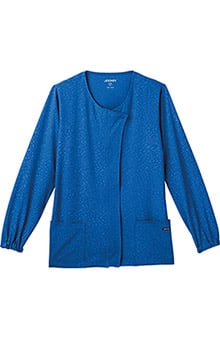 Classic Fit Collection by Jockey® Scrubs Women's Solid Illusion™ Snap Front Warm Up Solid Jacket