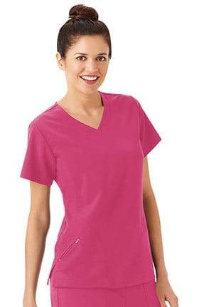 Classic Fit Collection by Jockey® Women's Side Panel V-Neck Solid Scrub Top