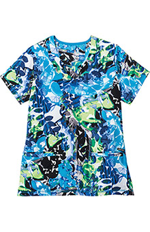 Modern Fit Collection By Jockey Women's V-Neck Botanical Print Scrub Top