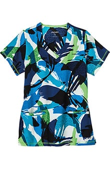 Clearance Classic Fit Collection by Jockey Womens V-Neck Abstract Print Scrub Top