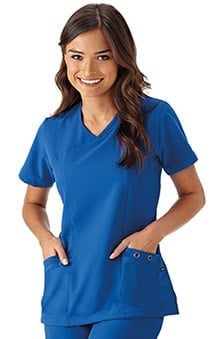 Modern Fit Collection By Jockey® Scrubs Women's Asymmetrical Neck Solid Scrub Top