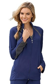 Modern Fit Collection By Jockey® Scrubs Women's Athletic Warm Up Solid Scrub Jacket