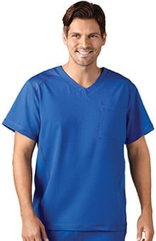 Classic Fit Collection by Jockey® Scrubs Men's Mesh V-Neck Solid Scrub Top