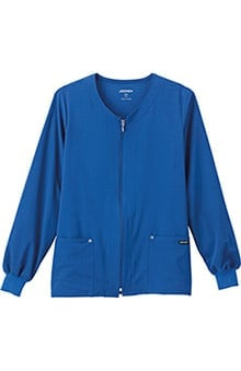Classic Fit Collection by Jockey® Scrubs Women's V-Neck Zip Front Scrub Jacket