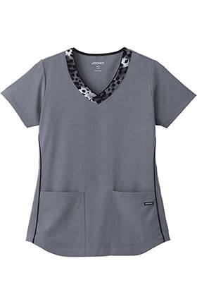 Classic Fit Collection by Jockey® Women's V-Neck Animal Print Scrub Top