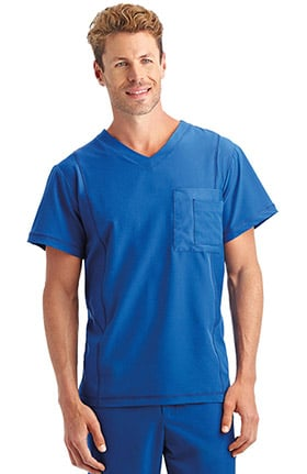 Performance Rx by Jockey® Men's Performance RX V-Neck Mesh Tech Solid Scrub Top