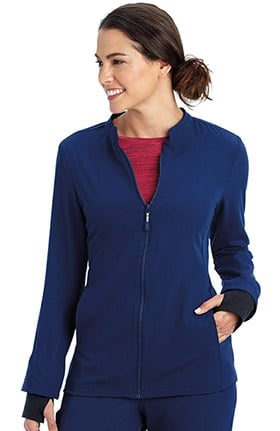 Performance Rx by Jockey® Women's REFLECTech™ Zip Front Solid Scrub Jacket