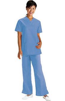Fundamentals by White Swan Women's V-Neck Scrub Top & Drawstring Pant Set