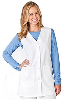 WS Gear by White Swan Women's V-Neck Solid 30'' Scrub Vest