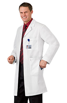 "labcoats: Meta Labwear Men's 40"" Lab Coat"