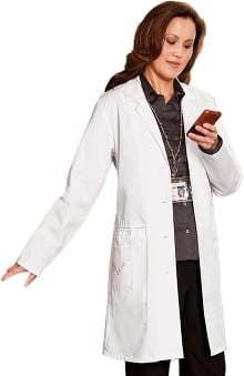 "META Labwear Women's Embroidered 36"" Lab Coat"
