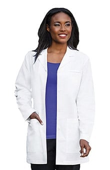 "labcoats: Fundamentals By Meta Labwear Women's 32"" Trench Style Labcoat"