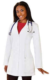 "labcoats: Fundamentals By Meta Labwear Women's 32"" Princess Seam Labcoat"