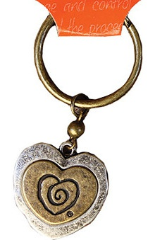 Clearance Trust Your Journey by White Swan Women's Heart In Heart Keychain