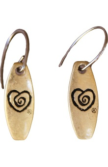 Clearance Trust Your Journey by White Swan Women's Heart Plate Earrings