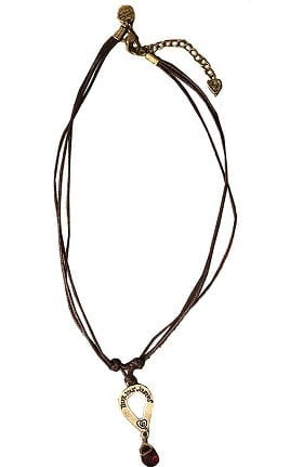 Clearance Trust Your Journey by White Swan Women's Heartdrop Necklace