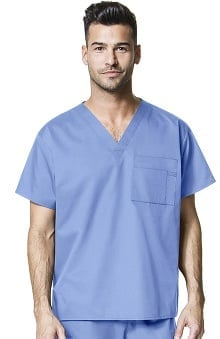 WonderWink WonderWORK Unisex V-Neck Solid Scrub Top