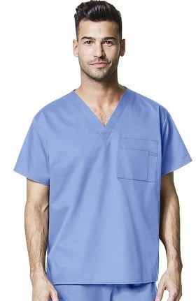 WonderWORK Unisex V-Neck Solid Scrub Top
