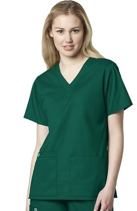 WonderWORK Women's V-Neck Solid Scrub Top