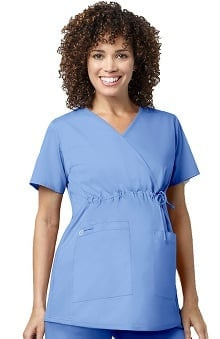 WonderWink WonderWORK Women's Maternity Solid Scrub Top