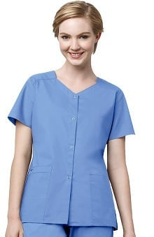 WonderWink WonderWORK Women's Stretch Snap Scrub Jacket