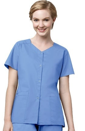 WonderWORK Women's Stretch Snap Scrub Jacket