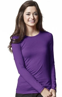 MED: Layers by WonderWink Women's Silky Long Sleeve Underscrub
