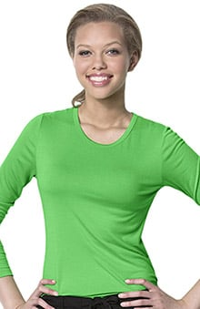 2XL: Layers by WonderWink Women's Silky Long Sleeve Underscrub