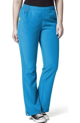Plus by WonderWink Women's Tummy Panel Flare Leg Scrub Pant