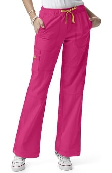 MED: Four-Stretch by WonderWink Women's Sporty Cargo Scrub Pant
