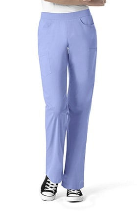 I Love WonderWink Women's Denim Inspired Pull On Scrub Pant