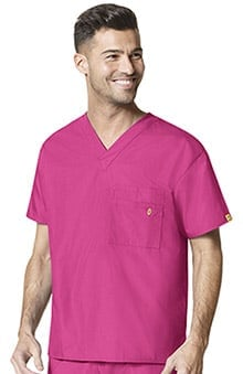 Origins by WonderWink Unisex V-Neck Solid Scrub Top