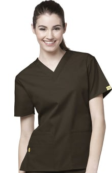 cna uniforms: WonderWink Women's Origins Bravo Lady Fit V-Neck Solid Scrub Top