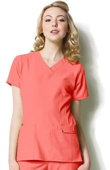 Easy Fit by WonderWink Women's Contoured V-Neck Solid Scrub Top