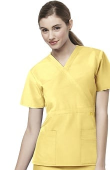 Origins by WonderWink Women's Golf Mock Wrap Solid Scrub Top
