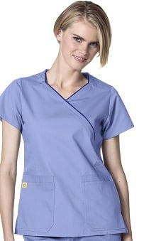 Origins by WonderWink Women's Hotel Mock Wrap Scrub Top