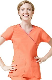 Clearance Origins by WonderWink Women's Hotel Mock Wrap Scrub Top